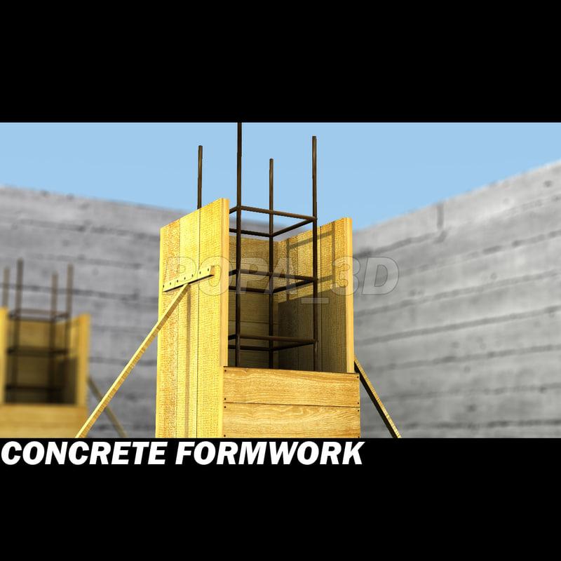 3dsmax concrete formwork