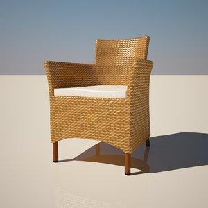 lowpoligonal wattled furniture 3d model