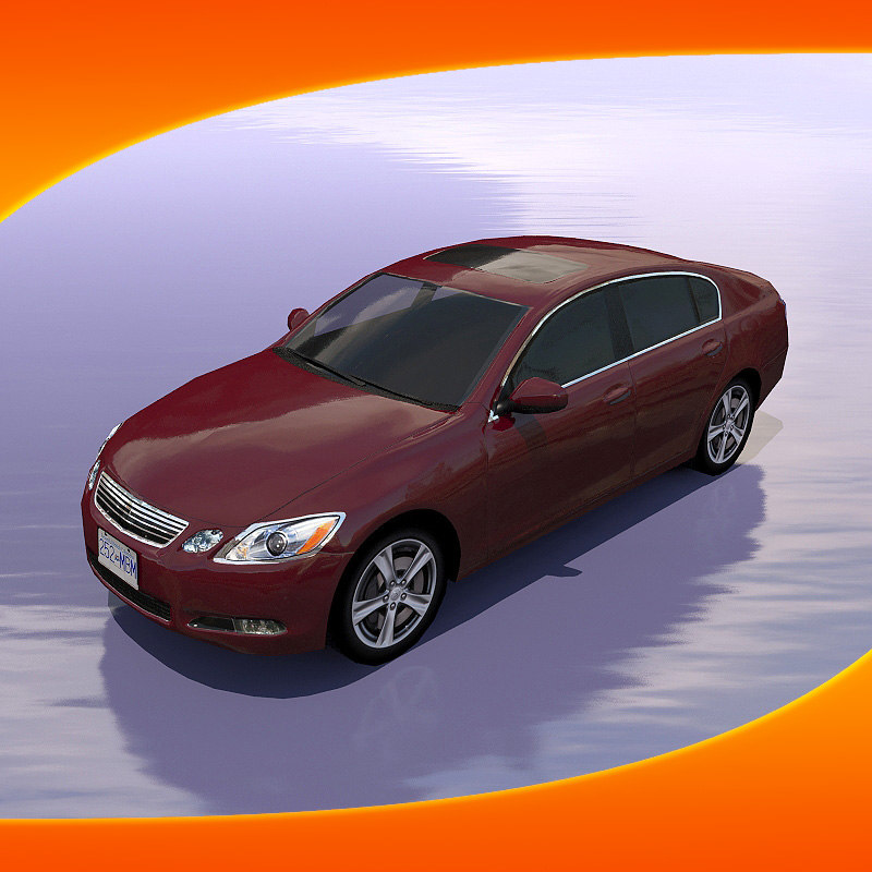 3d lexus gs450 car model