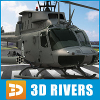 3d model oh-58d kiowa warrior helicopters
