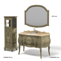 mobili di castello classic bathroom furniture cabinet mirror chest of drawers tap