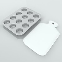 muffin tray chopping board 3d model