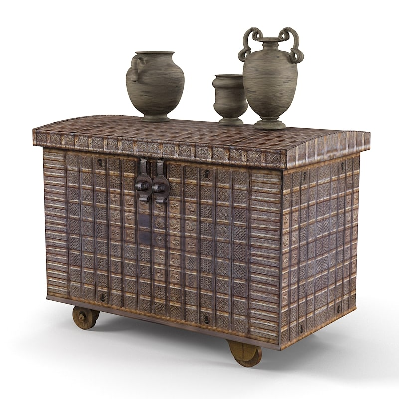 3d oriental asian trunk model