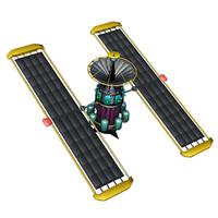 3ds max satelite orbiter