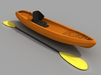 kayak sit 3d model