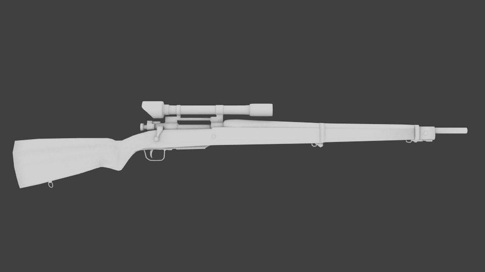 3d model m1903 sniper rifle