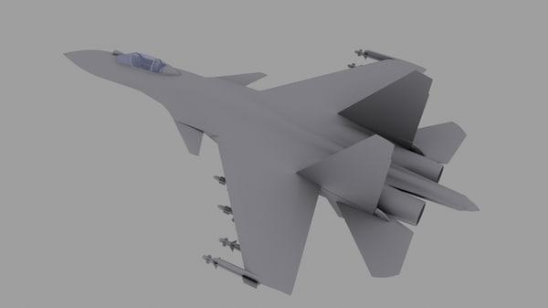3ds max su-37 su fighter