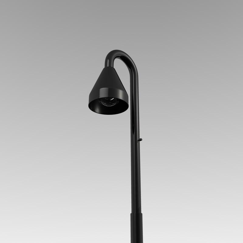 3d lamp black