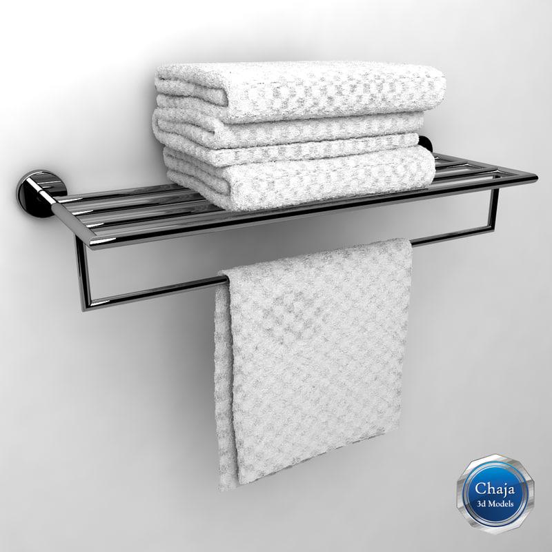 towel rack 3d model