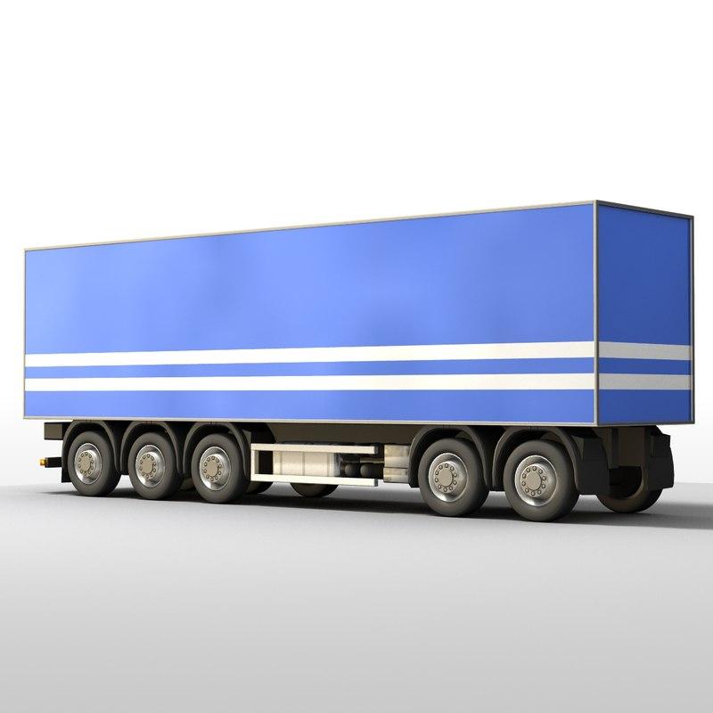 truck trailer 3d max