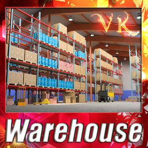 warehouse - 3d model