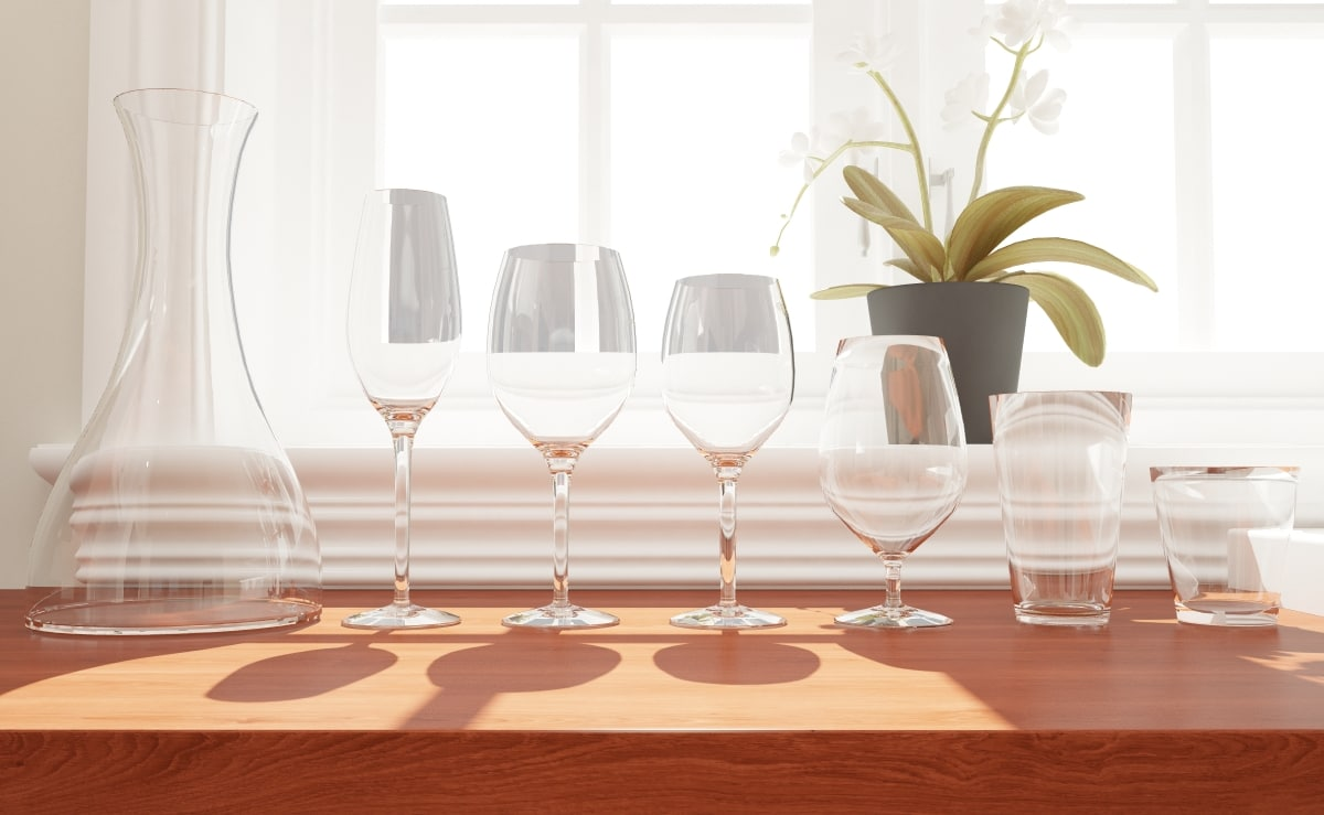 3d 3ds wine glass