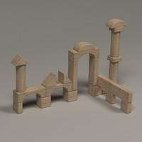 3d model brick box