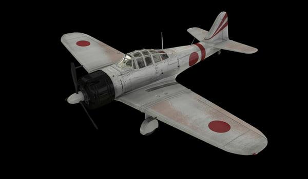 japanese plane obj