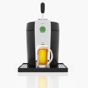 beer dispenser 3d model