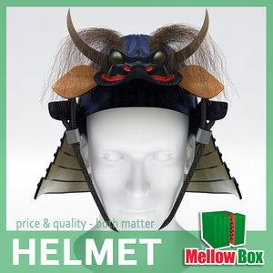 3d samurai helmet model