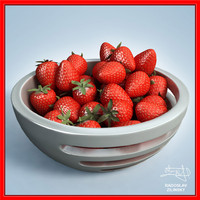 3d strawberries bowl design -