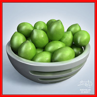 limes bowl design - 3d 3ds
