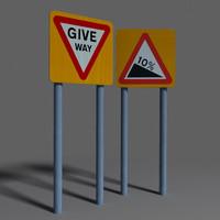 3d road sign coz090824100