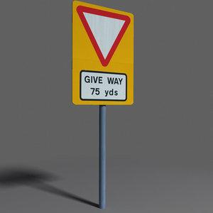 3d road sign coz100918518 model