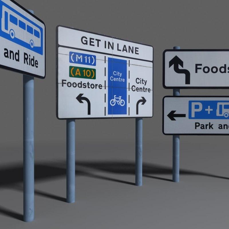 3d model road sign coz110113675