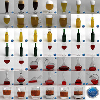 Collection Of Glasses And Bottles