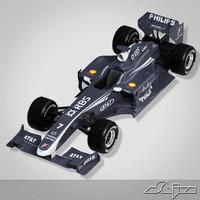 3d model williams toyota formula car