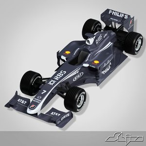 3d model williams toyota formula car