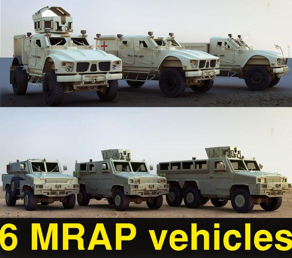 3d 6 resistant vehicles mrap model