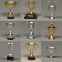 3d 9 trophies