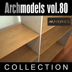 3d model archmodels 80 shelf vol