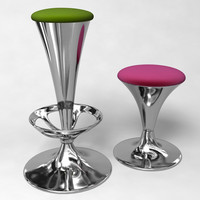 Bar stool set 02