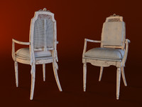 3d model dining chair belcor