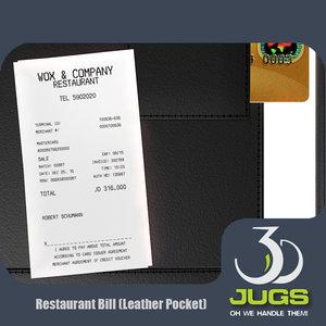 leather restaurant 3d model