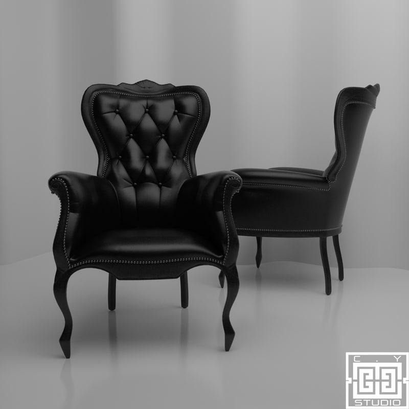 smoke armchair 3d model