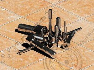 screw bolts set din 3ds