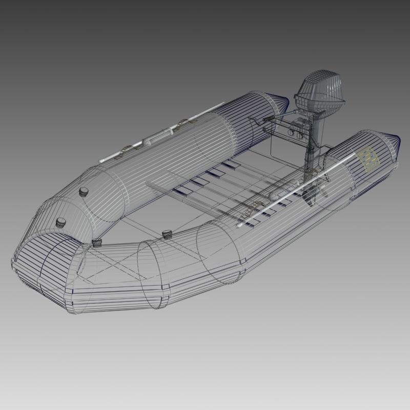 3d boat rubber dinghy