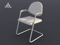 3d conference chair dublin cantilever