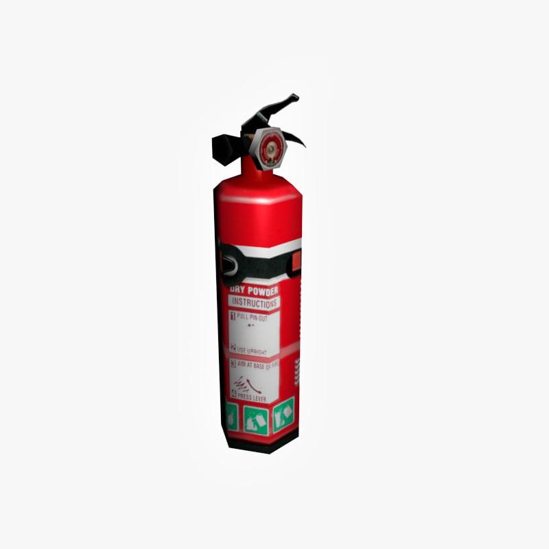 3d extinguisher model
