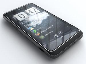htc 7 trophy mobile phone 3d model