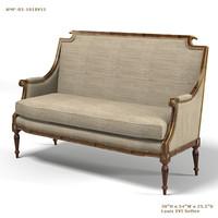 JOHN RICHARD AMF-05-101-8V11 louis XVI settee classic tradidional sofa