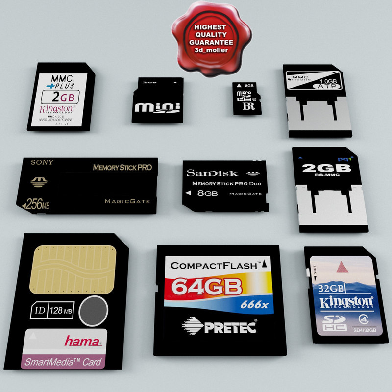3ds max memory cards
