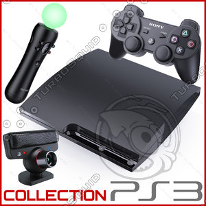 3d model sony playstation 3 ps3