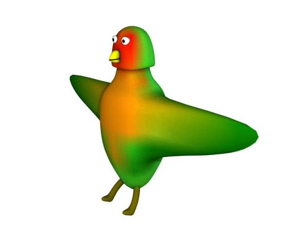 3d love bird cartoon model
