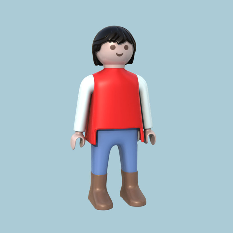 3ds max playmobile doll