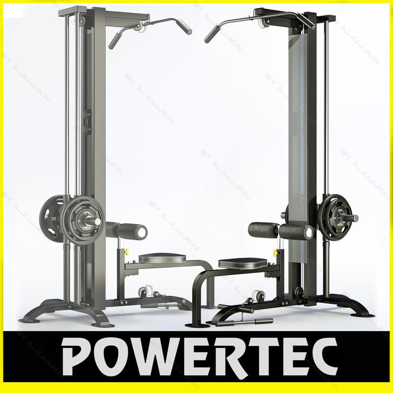 3d powertec p-lm10 lat machine