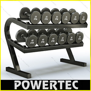 3d powertec wb-dr10 dumbbell rack model