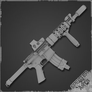 3d ar15 rifle pdw