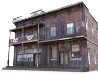 old west saloon 3d lwo