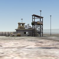 3D security checkpoint model